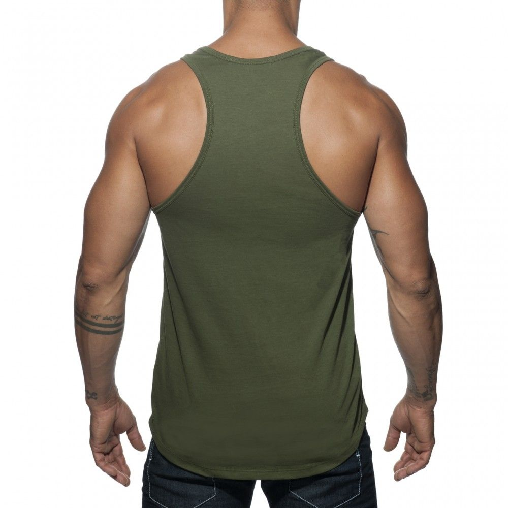Addicted Military Tank Top Green