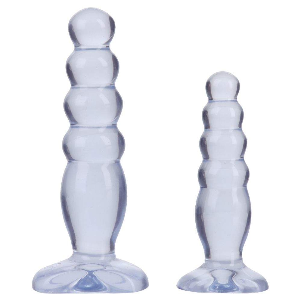 Doc Johnson Crystal Jellies Anal Trainer Kit Clear