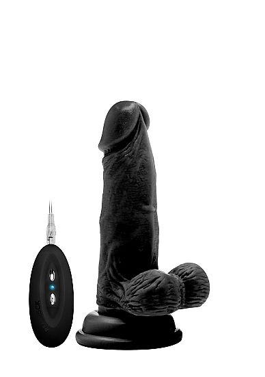 """RealRock Vibrating Cock & Balls (6"""")"""