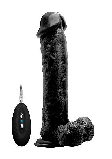 """RealRock Vibrating Cock & Balls (11"""")"""