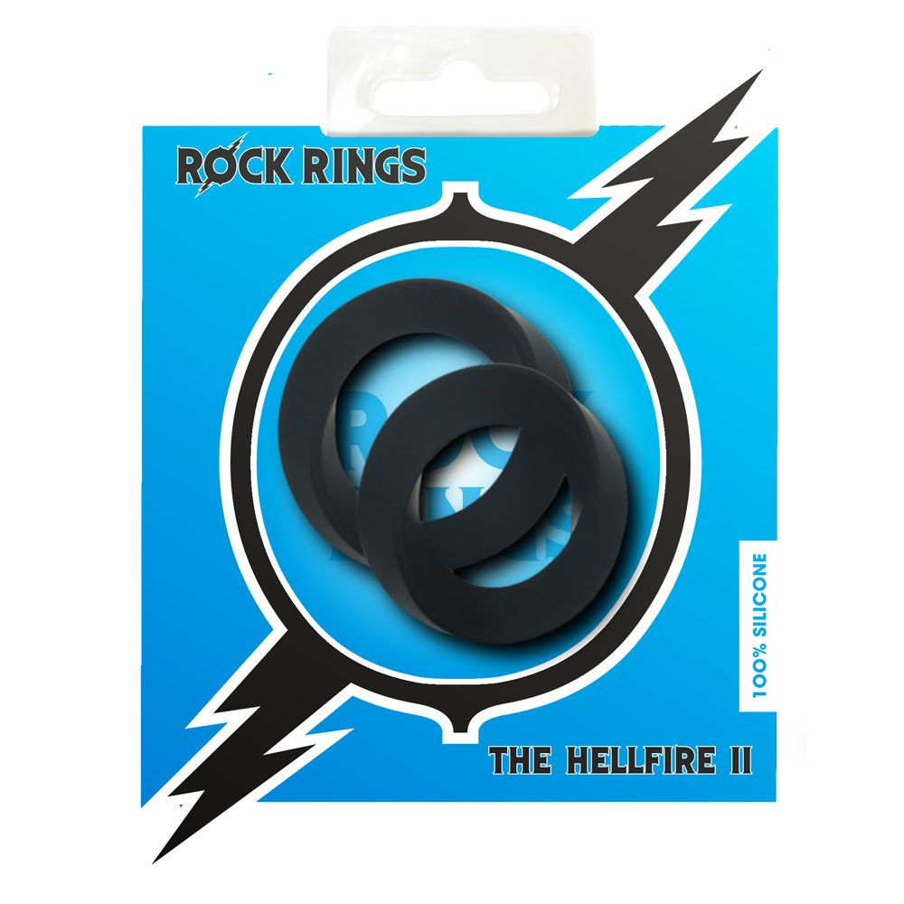 Rock Rings The Hellfire ll Cock Ring 2 Pack