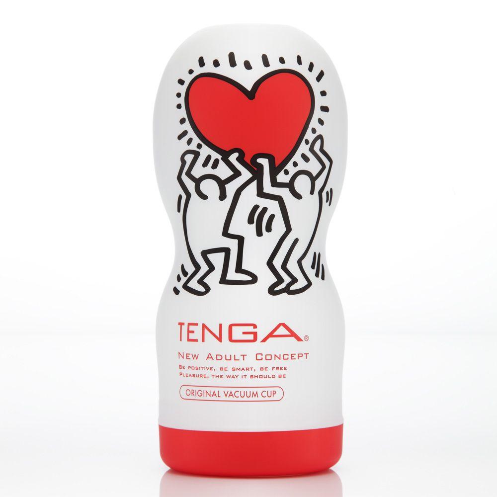 TENGA Keith Haring Standard Edition Deep Throat Onacup
