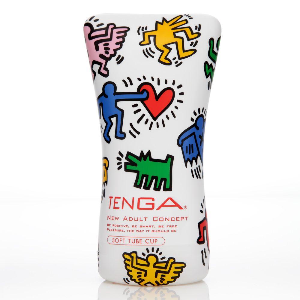 TENGA Keith Haring Standard Edition Soft Tube Onacup